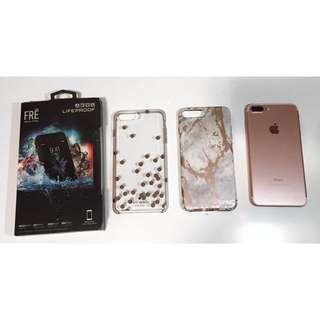 iPhone 7plus 128gb Rose Gold & Cases