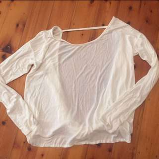 CATALOG - Creme Cotton / Polyester One string top Size 8