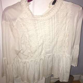 Zara peasant top