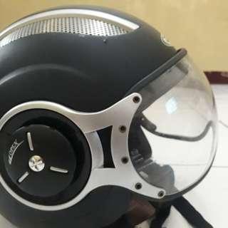 Helmet zeus 218 retro pilot
