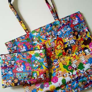 Tokidoki Totebag and Zipper Pouch Set