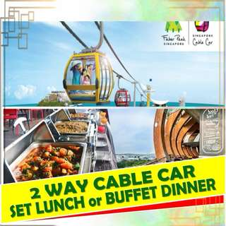 CABLE CAR 2 WAY + ISLAND ADMISSION + CABLE CAR MUSEUM and SET LUNCH or DINNER BUFFET