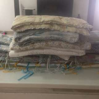 Bundle of Bumper set free baby cot