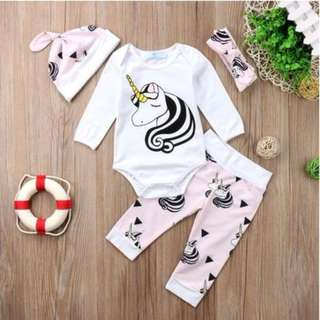 4 pcs Newborn Baby Unicorn Set
