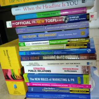 Communication Books (used)