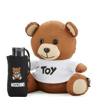 Brand New Limited Edition Authentic Moschino Bear With Black Umbrella