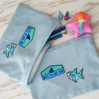 Sharky Zipper Pouch