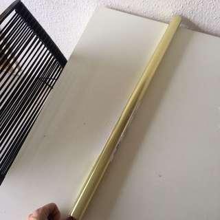 Gold wrap paper. Unopened 2m x 0,7 m