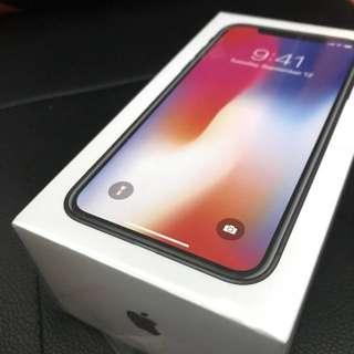 iPhone X 黑256Gb 全新未開封