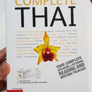 Thai language Teach Yourself (1 reference book + 2 audio CDs)