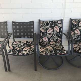 Quality set of four patio chairs