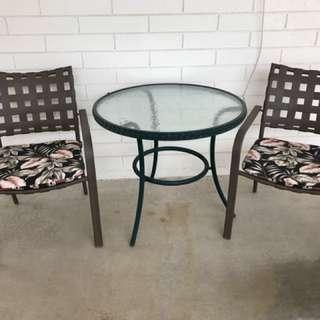 Quality 3  piece patio set