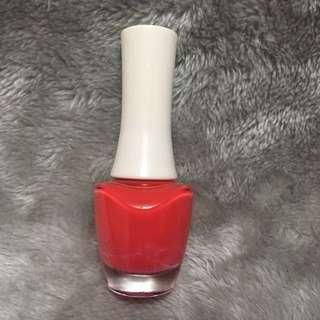 The Face Shop nail polish coral orange red shade nailpolish original authentic auth