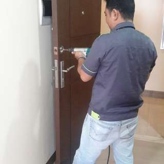 Installation of locks and cabinets