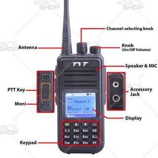 Tytera DMR MD-380 UHF 400-480MHz 對講機 +寫頻線+ 手咪+車用充電器+皮套  優惠價: HKD 1,120.00