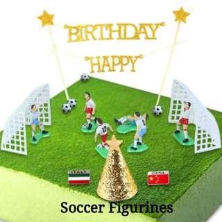 Cake Topper-Soccer Figurines