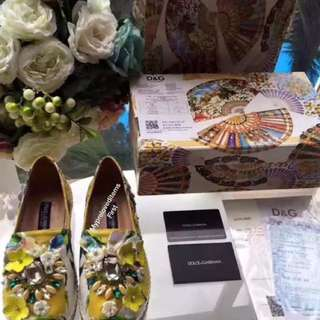 DOLCE & GABBANA EMBELLISHED ESPADRILLES SIZES 34-40