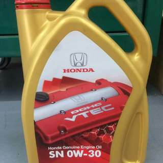 0w-30 fully original oil honda