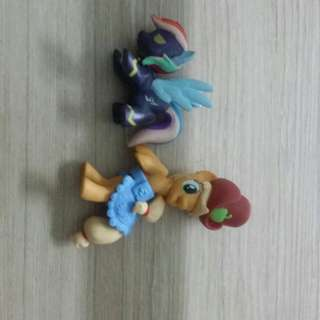 my little pony apple jack and rainbow dash