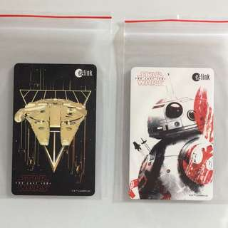 Limited Edition brand new Star Wars GV Falcon Millennium And BB-8 Design ezlink Cards For $8 Each .