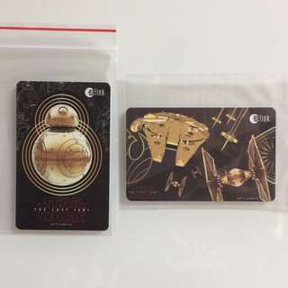 Limited Edition brand new Star Wars BB-8 And Falcon Millennium Design ezlink Cards For $13.90 Each .