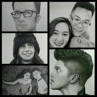 (CUSTOM) Hand Drawn Portraits