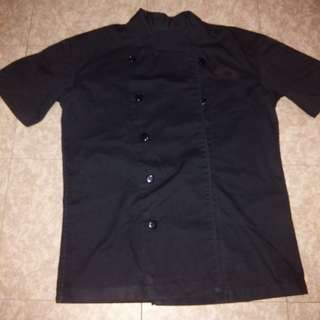 black chef's jacket 1pc with pants