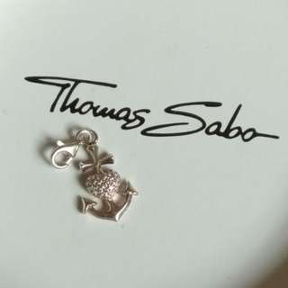 Thomas Sabo Charm - Anchor with Zirconia Heart