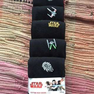 Men's black cotton Star Wars Socks
