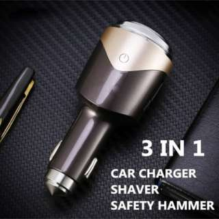 REMAX 3 in 1 Smart Car Charger Safety Hammer Shaver RT-SP01