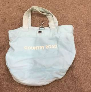 Baby Blue Country Road Tote Bag