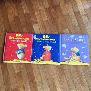 Billy Brownmouse stories (3 books)