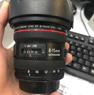 Canon 8-15mm F4 EF L USM Lens