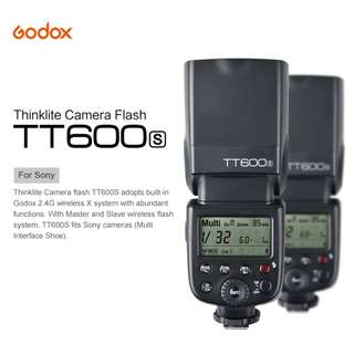 Godox TT600S Camera Flash Built-In 2.4G Wireless X System 1/8000s GN60 for SONY