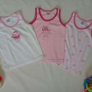 9 pcs. Baby Girl's Sandos