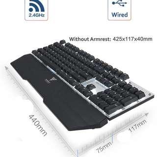 (PRE ORDER) ($80) Team Wolf X20W 2.4G Wireless Mechanical Keyboard