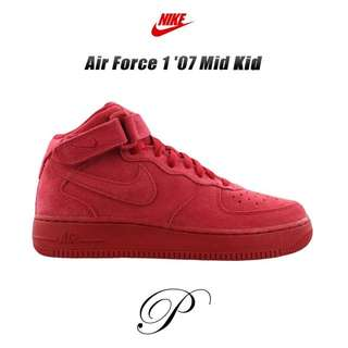 Brand New Red Suede GS 6.5 Air Force 1 Mid