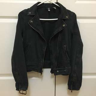 H&M Denim Biker Jacket Size 2