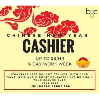Chinese New Year - Cashiers (Up To $8 Per Hr)