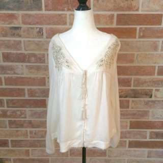 SILVER jeans White blouse NWT size small