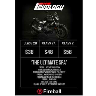 Revology Bike Detailing With Fireball Products !