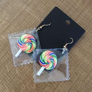 Cute Lollipop candy dangling earrings