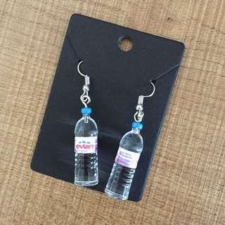 Cute Evian water bottle unique dangling earrings
