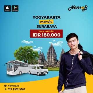 Jual Tiket Travel Jogja - Surabaya Hanya 180rb di Nemob.id