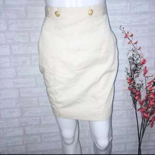 BEIGE HIGH WAIST SKIRT