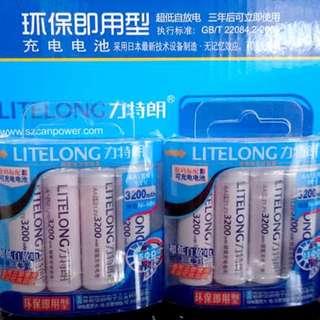 Original LITELONG Ni-MH Rechargeable Battery HIGH CAPACITY