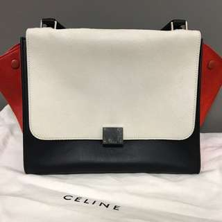 Celine Trapeze Large size bag, 馬毛手袋