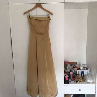 Tailored to fit gold gown