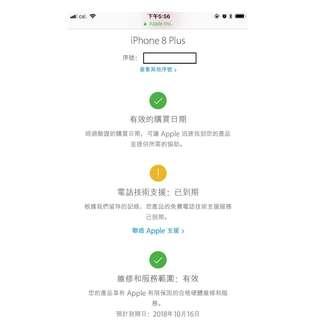 Apple iPhone 8 plus 64GB Black