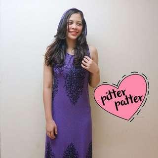 Long Purple Dress Hoodie